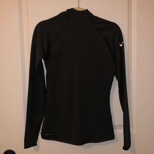 Nike Pro Dry Fit hooded running Top Sz s